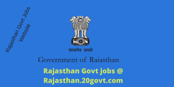 Rajasthan Govt Departments jobs at Rajasthan-20govt-com-600x300
